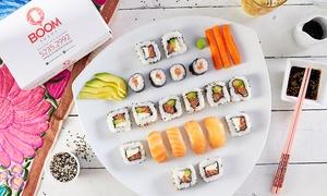 Sushi Boom: Desde $349 por 40 u 80 piezas surtidas + empanaditas chinas + delivery en Sushi Boom