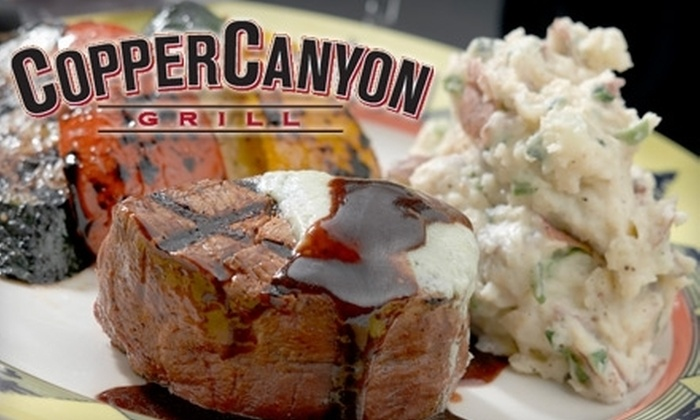 Copper Canyon Grill Fort Lauderdale - Boca Raton: $20 for $40 Worth of American Fare and Drink at Copper Canyon Grill