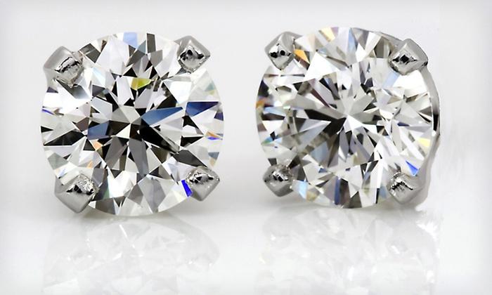 1-Carat TDW Diamond Stud Earrings: $699.99 for 1-Carat Diamond Stud Earrings in 14-Karat White Gold ($2,000 List Price)