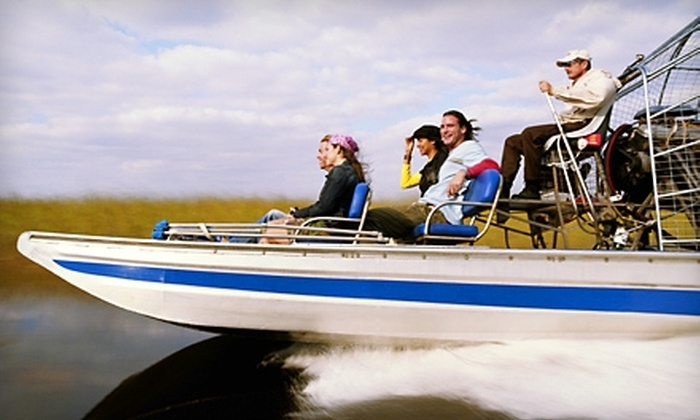 Half Price Tour Tickets - City Center: $27 for an Everglades Airboat Ride and Wildlife Show from Half Price Ticket Tours