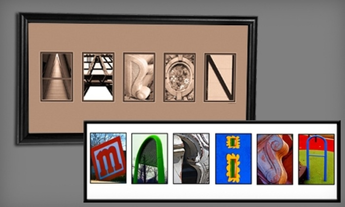 Hal Jaffe Name Art: $65 for 3 to 11 Letters of Photographic Name Art from Hal Jaffe Name Art
