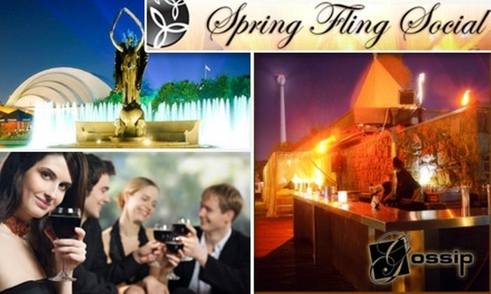 THE WORKS - Toronto: $15 Admission to the Spring Fling Social at Gossip on Thursday, May 13, hosted by The Works ($40 Value)