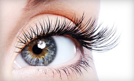 Set of Lighter Eyelash Extensions, 15 Per Eye (a $75 value) - Lash Impression in San Diego