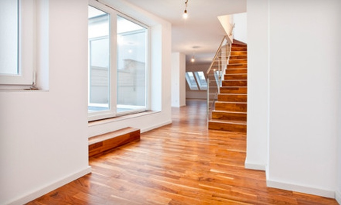 Angier Paint, Wallpaper, & Carpet Service, Inc. - Central Raleigh: Hardwood-Floor Refinishing from Angier Paint, Wallpaper, & Carpet Service, Inc. (Up to 54% Off). Two Options Available.