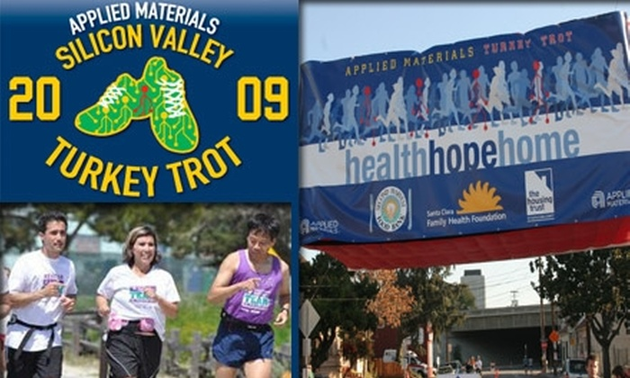 Silicon Valley Turkey Trot - San Jose: $25 Registration to the Thanksgiving Day Silicon Valley Turkey Trot Race for Charity (Up to $40 Value)
