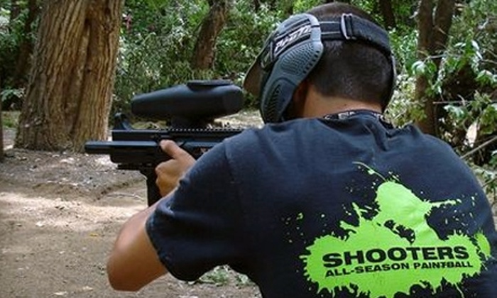 Shooters All-Season Paintball - South Sutter: $35 for Admission, Equipment Rental, and Paintballs for Two at Shooters All-Season Paintball ($70 Value)