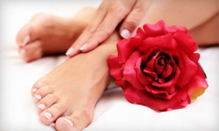 Bliss Nail Spa - Eastwood: $30 for a No-Chip Manicure and Sea Salt Mini Pedicure at Bliss Nail Spa ($60 Value)