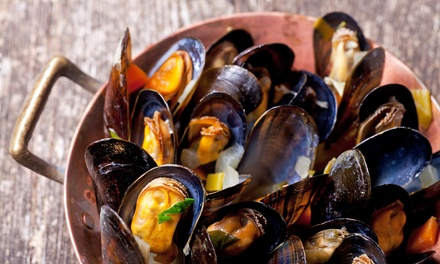 Mussels and Beer Meal for Two or Four at Hans Pedr' Kaffe (42% Off)