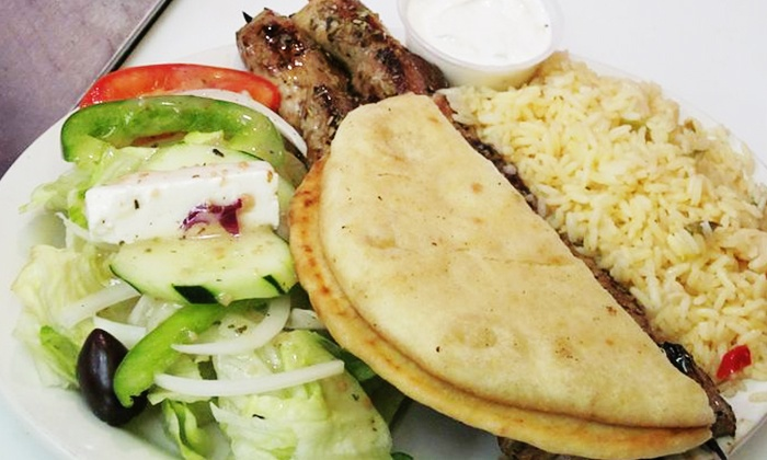 Mellos - Lincoln Park: Gyros, Kabobs, Sandwiches, and Burgers at Mellos (40% Off). Two Options Available.