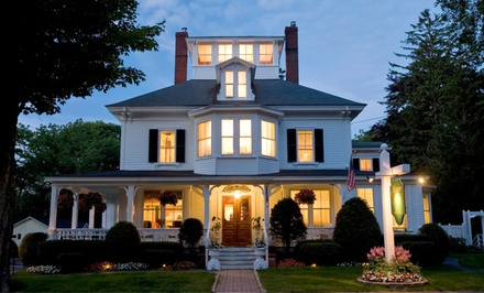 Groupon Deal: 1- or 2-Night Stay with Cheese-and-Dessert Platter and Beverages at Maine Stay Inn and Cottages in Kennebunkport, ME