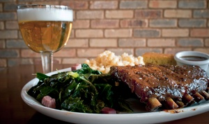 Brickhouse BBQ: Barbecue Lunch or Dinner for Two at Brickhouse BBQ (Up to 46% Off). Three Options Available.