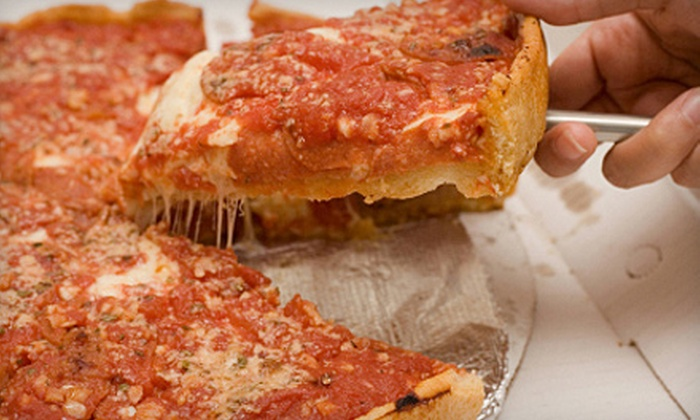 South of Chicago Pizza & Beef - Fletcher Place: Chicago-Style Pizza and Sandwiches or Catered Fare from South of Chicago Pizza & Beef