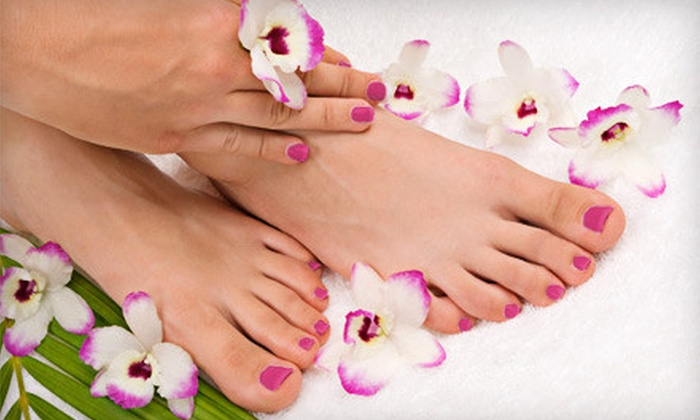 Alisha's Salon & Spa - Mountain Park: Basic or Deluxe Mani-Pedi at Alisha's Salon & Spa in Lilburn (Up to 56% Off)