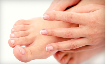 Basic Manicure and Basic Pedicure (a $61 Value) - Solace Hair Esthetics in Thorold