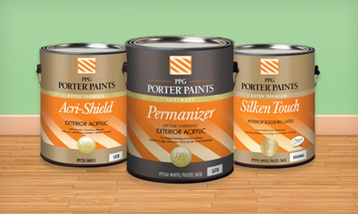 Monroe Paint & Decorating Center and Pageland Paint & Floor Covering - Multiple Locations: $30 for $60 Worth of Interior and Exterior PPG Porter Paints at Monroe Paint & Decorating Center or Pageland Paint & Floor Covering