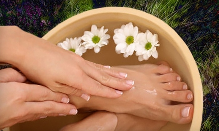 Salon Glo - West Hartford: Shellac Manicure and Basic Pedicure or Basic Mani-Pedi at Salon Glo in West Hartford