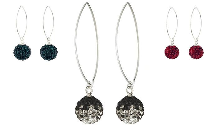 swarovski elements drop earrings groupon goods