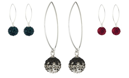 Sterling Silver Swarovski Elements Drop Earrings