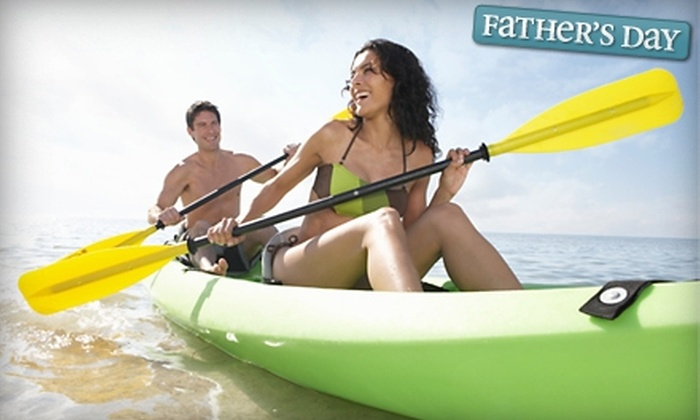 Just Yakin - Austin: $20 for a Four-Hour Single or Tandem Kayak Rental from Just Yakin (Up to $55 Value)