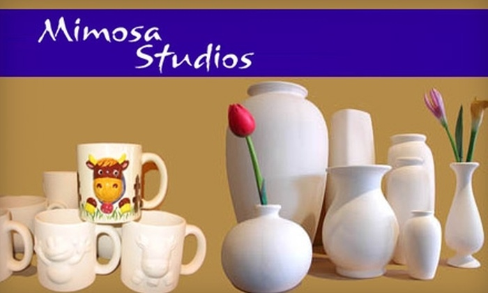 Mimosa Studios - Vernon: $12 for $25 Worth of Custom Painted Pottery at Mimosa Studios