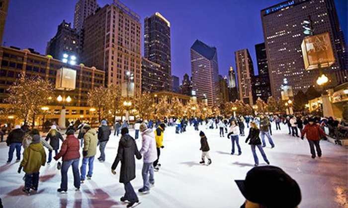 McCormick Tribune Ice Rink - Central Chicago: Ice-Skate Rental for Two, Four, or Six at the McCormick Tribune Ice Rink in Millennium Park (Up to 53% Off)