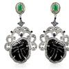 52.75 CTTW Tourmaline, Diamond and Multi-Color Gemstone Earrings