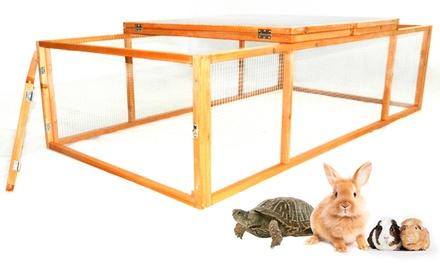 wooden portable pet run