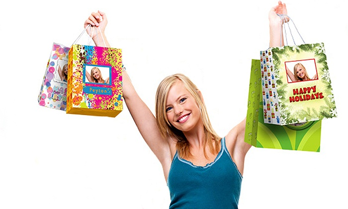Picture Gift Bags: Personalized Photo Gift Bags from Picture Gift Bags (Up to 52% Off). Four Options Available.