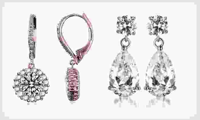 Cubic-Zirconia Holiday Jewelry Glitz: Cubic-Zirconia Holiday Jewelry Glitz (Up to 88% Off). 11 Options Available. Free Shipping.