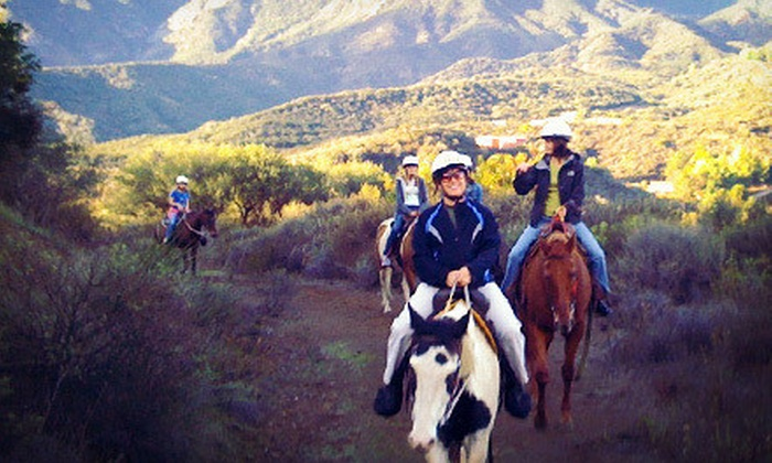 Connemara Ranch - Agoura Hills-Malibu: Weekday or Weekend 90-Minute Horseback Trail Ride with Instruction for One or Two from Connemara Ranch (Up to 56% Off)