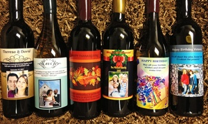 Personalized Wine Labels On One, Two, Or Six Bottles Of California Wine From Winegreeting.com (up To 50% Off)