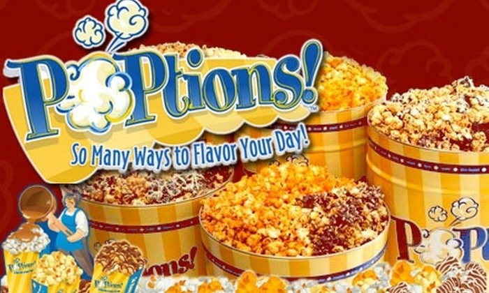 Poptions - Milwaukee: $15 for $30 Worth of Gourmet Popcorn and Half Off Shipping at POPtions!