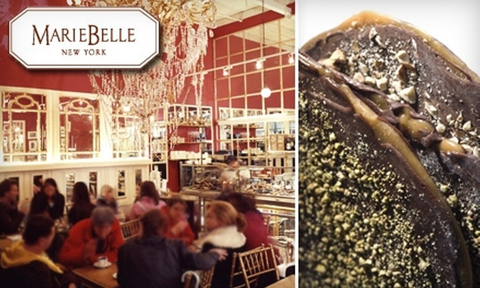 Cacao Bar and Tea Salon at MarieBelle New York - Multiple Locations: $15 for $30 Worth of Crepes, Hot Chocolate, and More at Cacao Bar and Tea Salon at MarieBelle New York