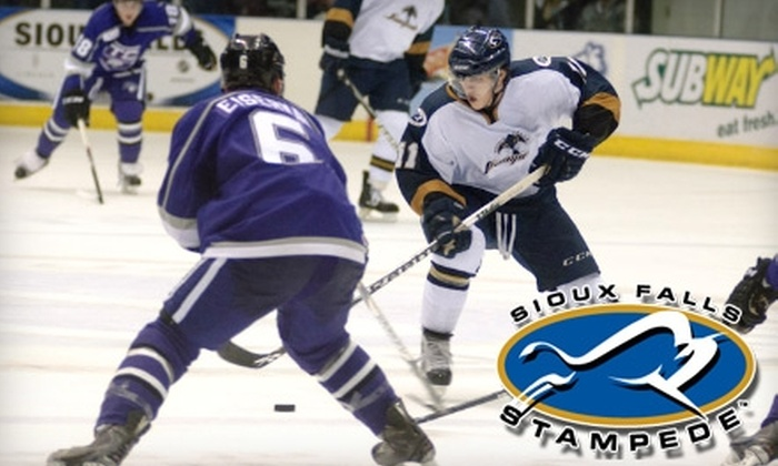 Sioux Falls Arena - Sioux Falls: $7 for a Ticket to a Sioux Falls Stampede Hockey Game at Sioux Falls Arena (Up to $14.75 Value). Two Games Available.