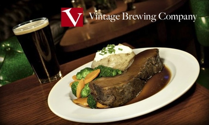Vintage Brewing Company - Madison: $15 for $30 Worth of Ales, Appetizers, and Main Plates at Vintage Brewing Company