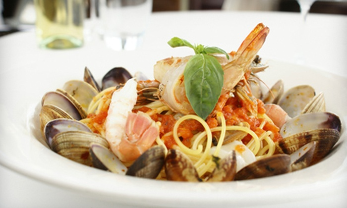 Bleu Evolution - Fort George: $29 for Italian Dinner with Appetizer, Entrees, and Wine for Two at Bleu Evolution (Up to $73.50 Value)