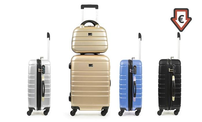 Valise cabine + vanity en polycarbonate Blue Star, plusieurs coloris au choix à 44,90 €