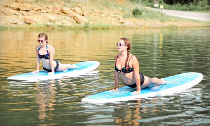 Float On Yoga - Grapevine: On-Shore or Paddleboard Yoga Classes at Float On Yoga in Grapevine