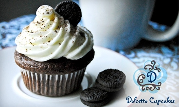Dolcetto Cupcakes - Melrose: $10 for a Dozen Cupcakes Plus Delivery From Dolcetto Cupcakes (Up to $23 value)