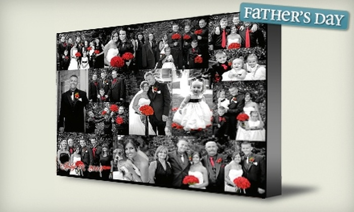 """BoaPix: $39 for Custom 30""""x40"""" Photo Collage from BoaPix ($147 Value)"""