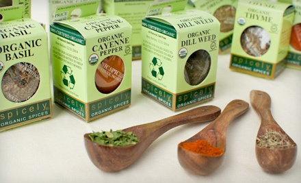 Spicely 12-Box Organic Spice Sampler: Organic American Kitchen Sampler (a $42 Value) - Certified Organic Spice Samplers in