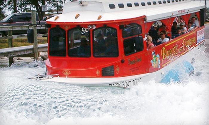 Parrots of the Caribbean - Madeira Beach: 90-Minute Amphibious Boat Tour for Child or Adult or Senior from Parrots of the Caribbean in Madeira Beach (Up to Half Off)