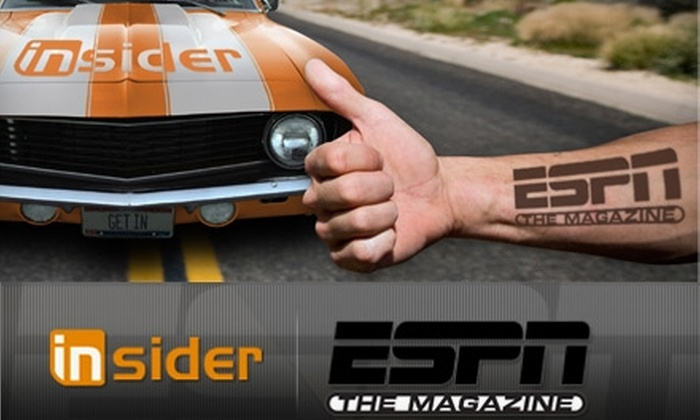"ESPN The Magazine: $13 for a One-Year Subscription to ""ESPN The Magazine,"" ESPN Insider, iPad App, and Hat ($39.95 Value)"