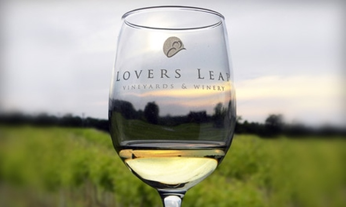 Lovers Leap Vineyards & Winery - Lawrenceburg: $25 for Wine Tasting and Tour for Four and Four Wine Souvenir Glasses from Lovers Leap Vineyards & Winery ($60 Value)