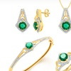 4-Piece Jewelry Set with Gemstones and Diamond Accents