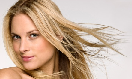 Single-Process Color, Highlights, or Haircut with Blowouts at Fringe 125 Salon (Up to 51% Off). Five Options Available.
