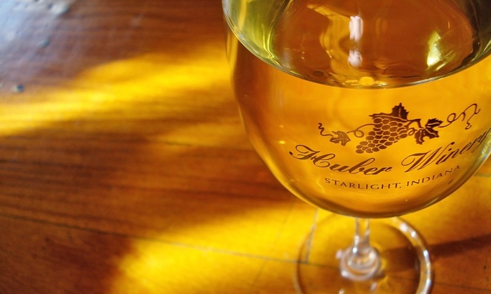 Huber's Orchard & Winery - Borden: VIP Winery Tour Package for Two, Four, or Six at Huber's Orchard & Winery (Up to 71% Off)