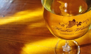 Huber's Orchard & Winery: VIP Winery Tour Package for Two, Four, or Six at Huber's Orchard & Winery (Up to 71% Off)