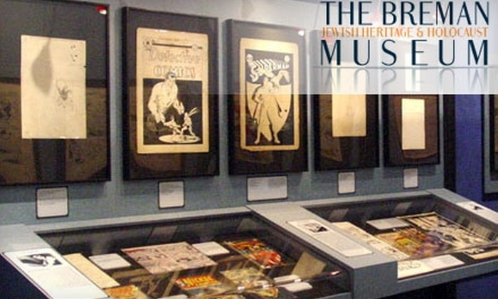"The Breman Jewish Heritage and Holocaust Museum - Midtown: $9 for Two Tickets for Admission Including ""ZAP! POW! BAM! The Superhero"" Exhibit at The Breman Jewish Heritage & Holocaust Museum"