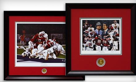 $50 Groupon to Framed College Football Art - Framed College Football Art in